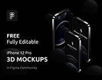 iPhone 12 Pro Fully Editable Mockups Free Download