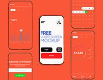 App Screen Mockup PSD