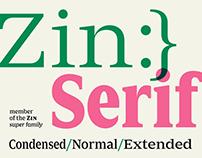 Zin Serif (+ Free Demo)