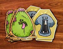 Spooky Zombie Stickers!