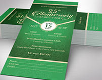 Anniversary Banquet Ticket Word Publisher Template
