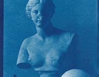 Cyanotype Venus Still Life.