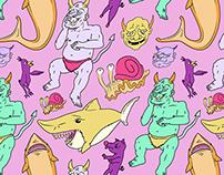 Paisley Pink Monster Pattern