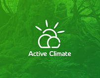 Active Climate logo design