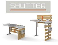 SHUTTER / Lifting desk