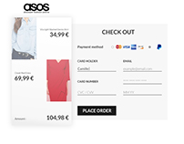 Daily UI 002 - Credit card checkout for ASOS
