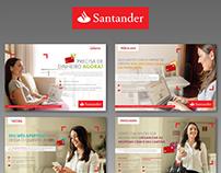 SANTANDER – Opções de parcelamento de crédito.