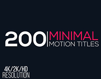 Minimal Motion Titles Pack, After Effects Templates