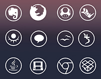Round And Clear - Icon Set