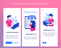 On-boarding Screens For Seller App