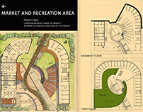 MARKET AND RECREATION AREA (design project) 2nd year
