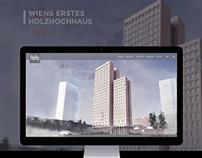 Webdesign for HoHo 'world's tallest' wooden skyscraper'