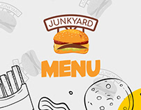 Menu Design for Junk Yard Burgers