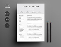 Minimal Resume Template I 3 Pages