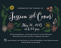 Jessica & Conor wedding invitation