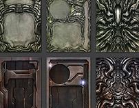 """AvP: The Hunt Begins Boardgame - card templates"