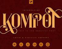 Kompot Display Typeface. Free font!