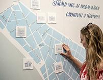 Exhibition identity / Irodalmárok Ferencvárosban