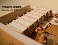 Proyecto Habitar: Casa de Tres Patios