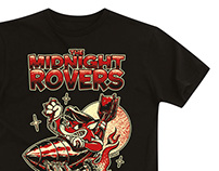 The MIDNIGHT ROVERS - T-shirt