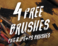 4 Free Brushes! (PNG&JPG+PS BRUSHES)