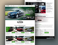Skoda Superb: Website Design