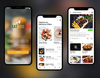 Food ordering Mobile App Design Adobe XD Template