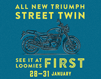 Loomies Triumph Street Twin Launch event