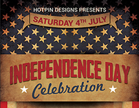 4th July/Independence Day Flyer Template