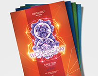 Women's Day Party Poster Template