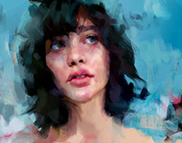 Blue portrait, old wip