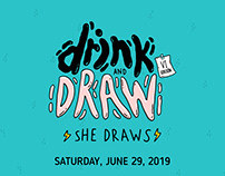 DRINK AND DRAW - ⚡SHE DRAWS⚡