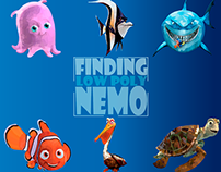 Personagens: Finding Nemo Low Poly (G1)