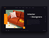 Interior Design website free Adobe XD template