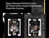 Magic Moments Michael Jordan 3D Virtual Art Concept