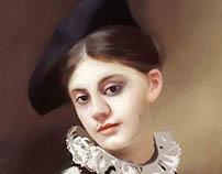 A coquettish smile lady portrait