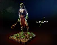 Escultura Amazona