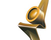Gold award statuette