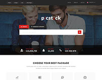 Homepage Design for a Stock Image Website