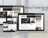 What Tony Did - Responsive Theme for WordPress.