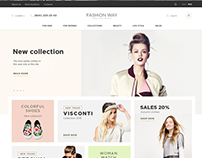 Fashion way - web design for online shop