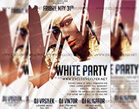 White Party - Premium A5 Flyer Template