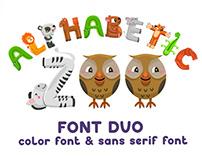 Alphabetic Zoo - font duo