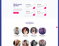 Event-landing page