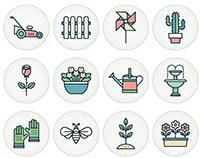 Gardening icon set - Free