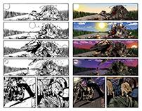 Digital Coloring for Comic Book