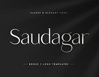 Saudagar Display Font + 7 Bonus Logo