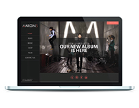 REDESIGN MAROON 5 WEBSITE
