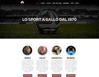 WIP - Progetto Web A.S.D. Gallo