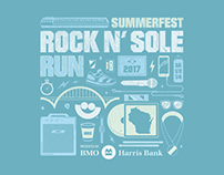 2017 Rock 'N Sole Run Tshirt Design